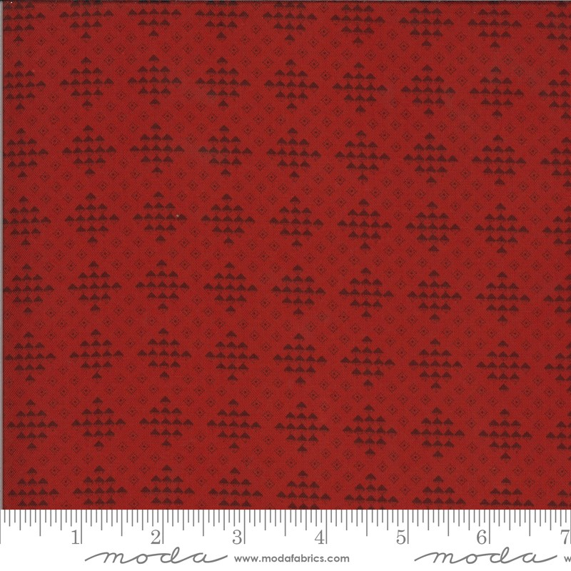 Moda Redwork Gatherings 49116-14 Light Red