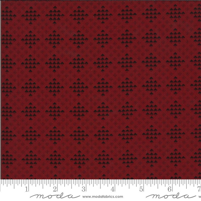 Moda Redwork Gatherings 49116-16 Dark Red