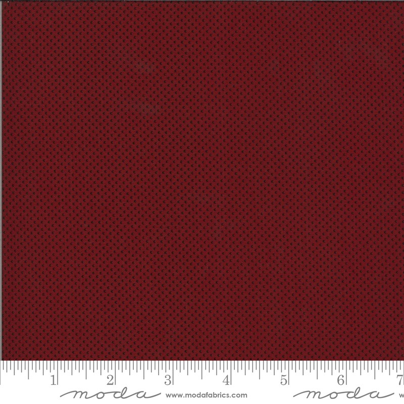 Moda Redwork Gatherings 49117-16 Dark Red