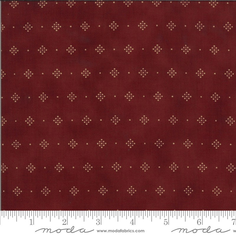 Moda Redwork Gatherings 49118-15 Dark Red