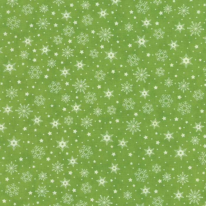 Moda The Cookie Exchange Snowflakes 5626-27 Grass