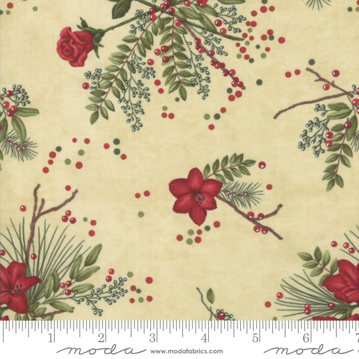 Moda Winter Manor Buff Floral 6771-12