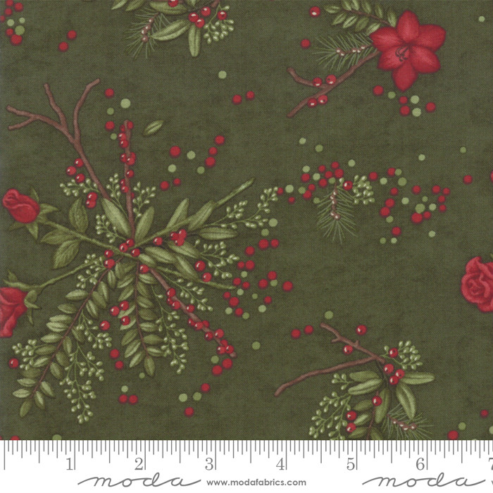 Moda Winter Manor Pine Floral 6771-14