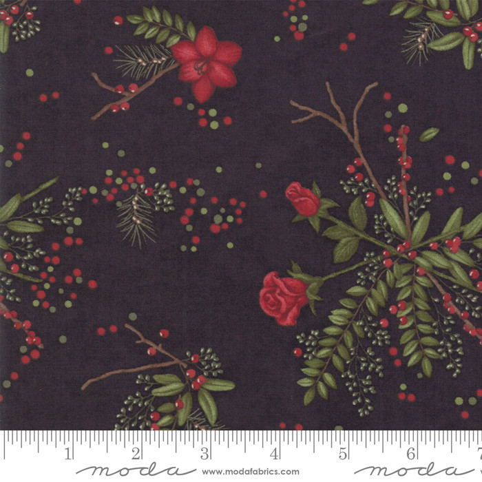 Moda Winter Manor Ebony Floral 6771-17