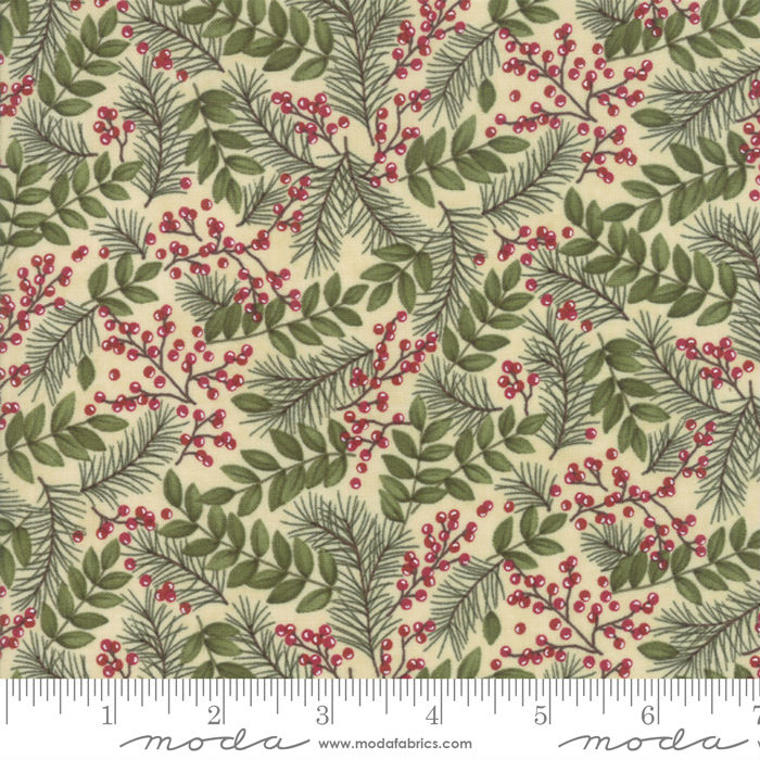 Moda Winter Manor Buff Winter Greens 6772-12