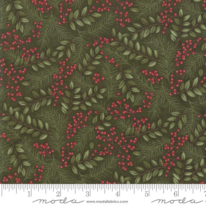 Moda Winter Manor Pine Winter Greens 6772-14