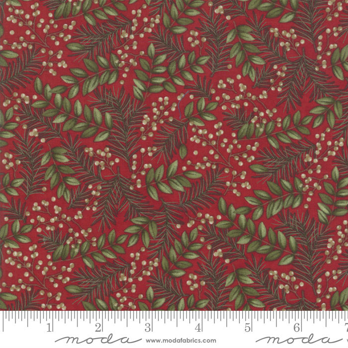 Moda Winter Manor Cardinal Winter Greens 6772-15