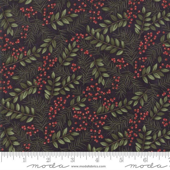 Moda Winter Manor Ebony Winter Greens 6772-17