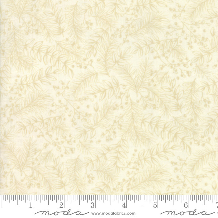 Moda Winter Manor Tonal Ivory Winter Greens 6772-21
