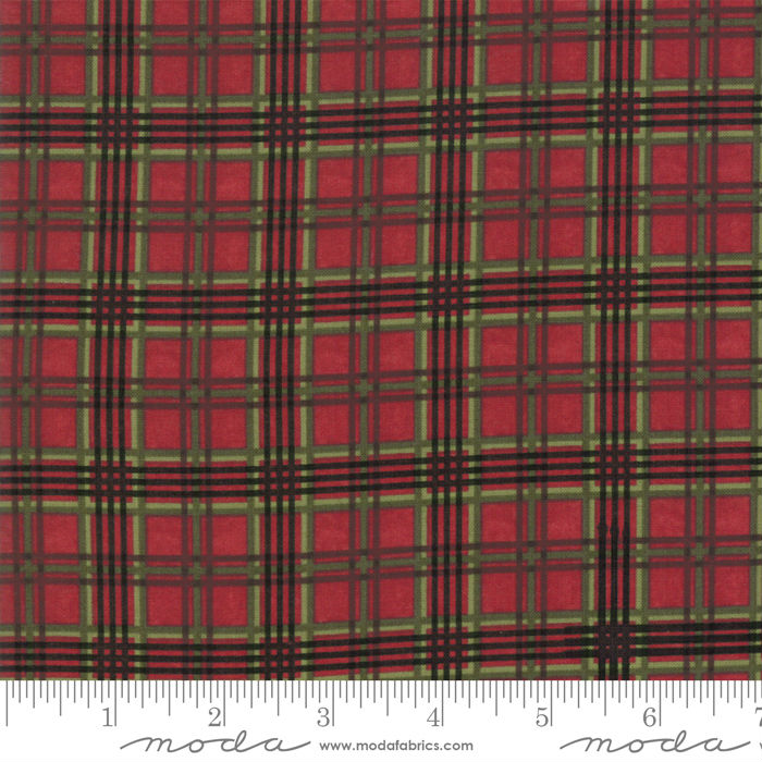 Moda Winter Manor Cardinal Plaid 6776-15