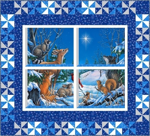 Kit, Woodland Winter Window View - Pinwheel version