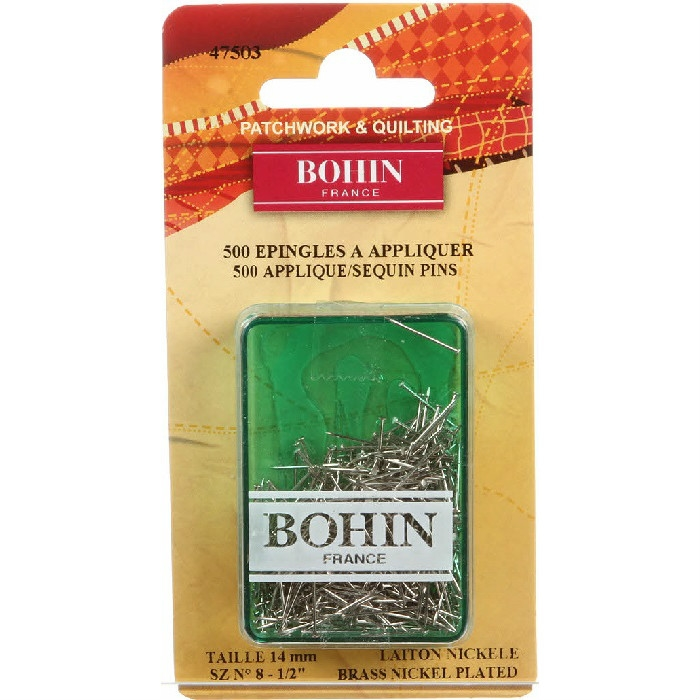Bohin Applique Sequin Pin Nickel Size 8 47503