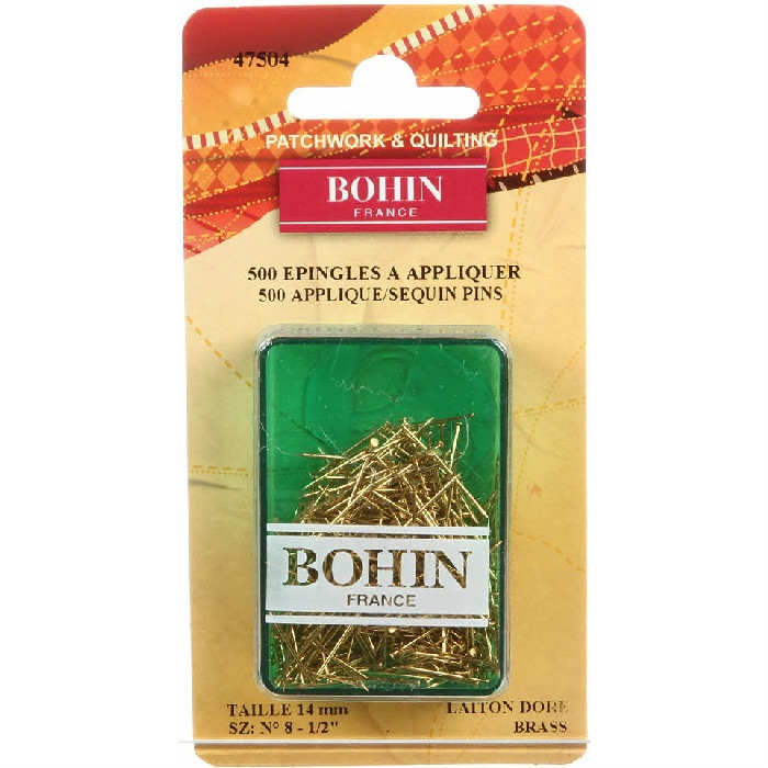 Bohin Applique Sequin Pin Brass Size 8 47504