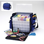 Darice Nylon Carry Bag with 5 Bead-Ready Organizer Darice 1027-37