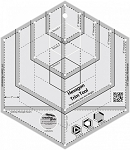 Creative Grids Hexagon Trim Tool Quilt Ruler CGRJAW4