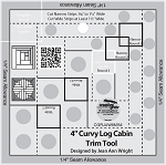 Creative Grids 4in Curvy Log Cabin Trim Tool CGRJAW6MINI
