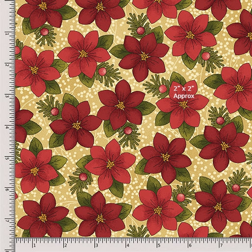 Benartex A Moose for Christmas 1543-07 Sand Fat Quarter