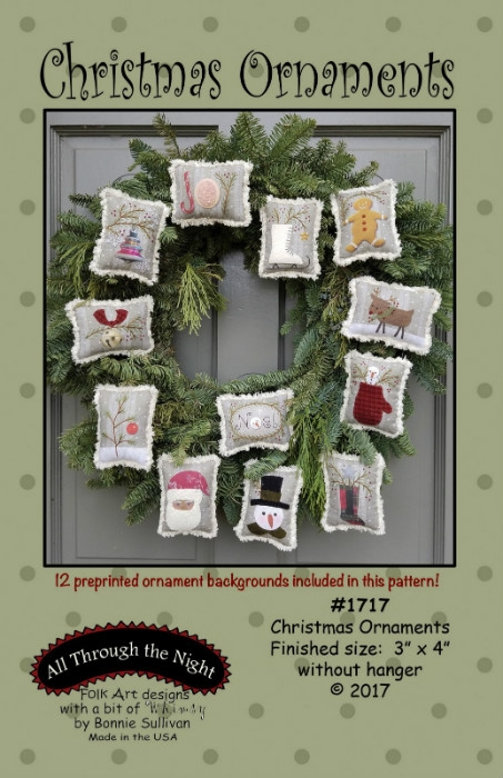Christmas Ornaments Pattern ATN1717