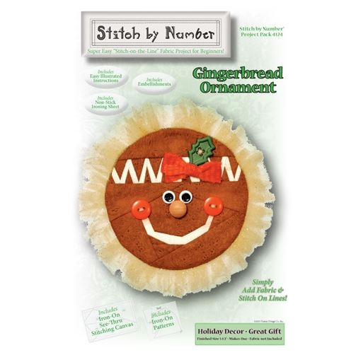 Gingerbread Stitch by Number Project Pack HHD4124K