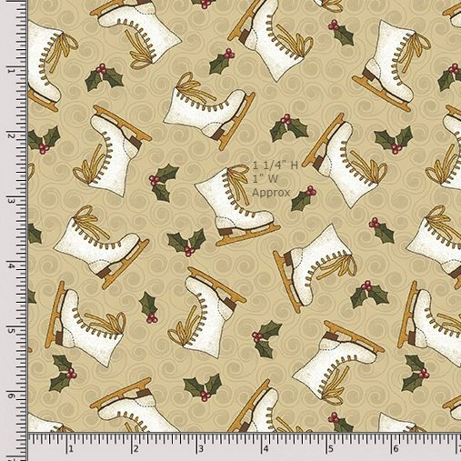 Benartex Winter Wonderland 4652-70 Natural Fat Quarter
