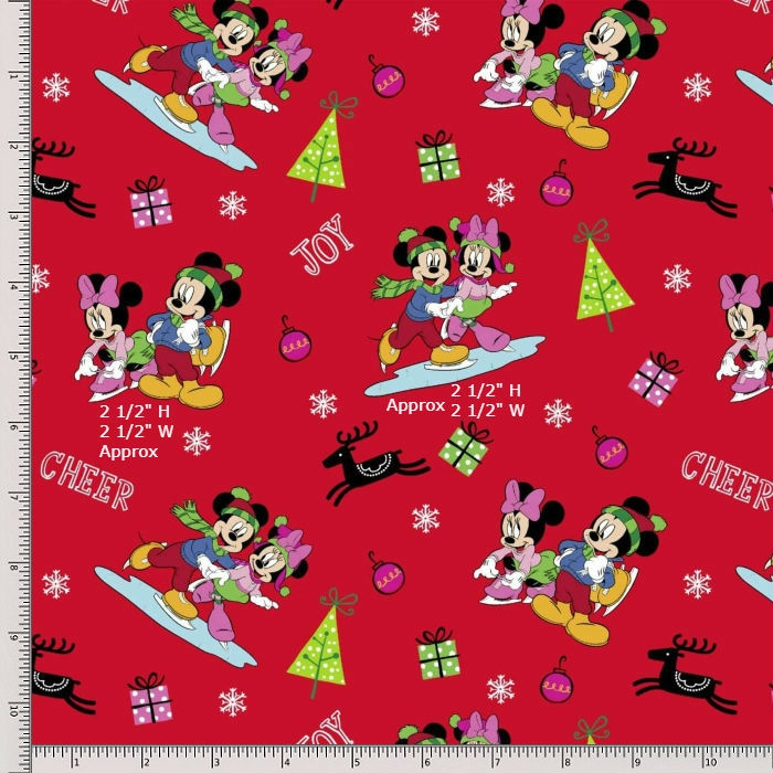 Springs Creative Mickey and Minnie Fat Quarter 64175D650715