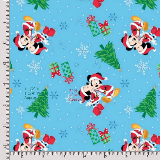 Springs Creative Mickey and Minnie Fat Quarter 663929130715