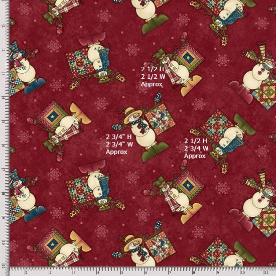 Henry Glass My Precious Quilt 8536-88 Red Fat Quarter