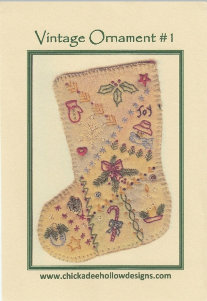 Vintage Christmas Ornament - Stocking CDHV01