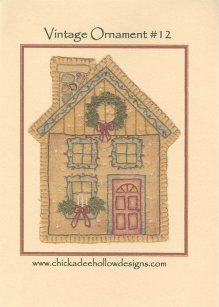 Vintage Christmas Ornament - Christmas House CDHV012