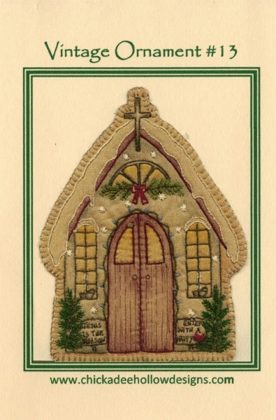 Vintage Christmas Ornament - Church CDHV013