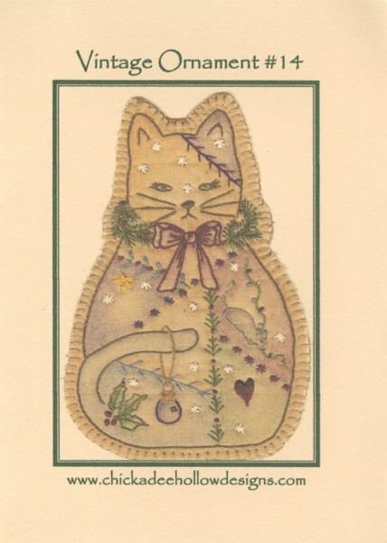 Vintage Christmas Ornament - Kitty CDHV014