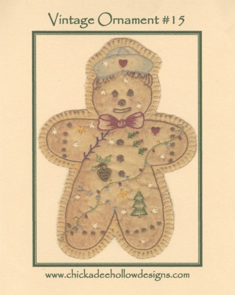 Vintage Christmas Ornament - Gingerbread Boy CDHV015