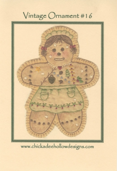 Vintage Christmas Ornament - Gingerbread Girl CDHV016