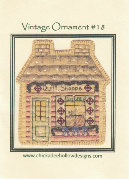 Vintage Christmas Ornament - Quilt Shop CDHV018