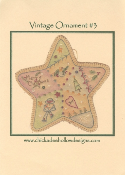 Vintage Christmas Ornament - Star CDHV03
