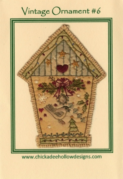 Vintage Christmas Ornament - Birdhouse CDHV06