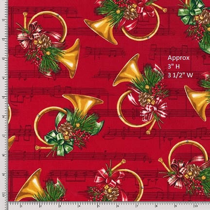 Robert Kaufman Holly Jolly Christmas 5 15806-3 Red Fat Quarter