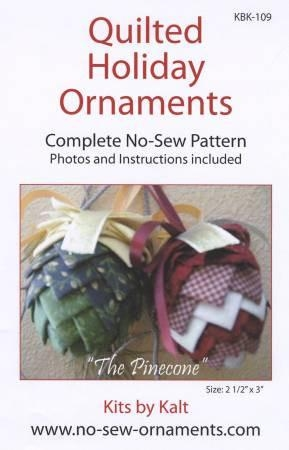 Pinecone No-Sew Ornament Pattern KBK-109