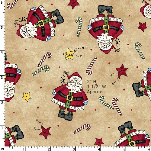 Maywood Studios Just Be Claus 8622-T Fat Quarter