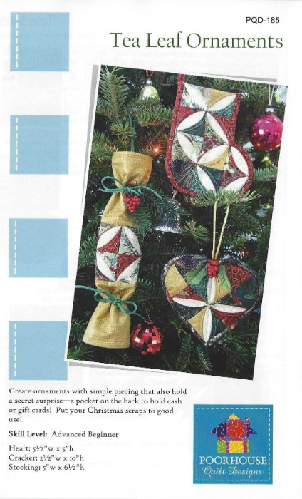 Tea Leaf Ornaments Pattern PQD185