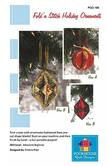 Fold N Stitch Holiday Ornaments PQD196