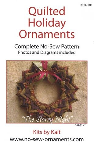 Starry Night No-Sew Ornament Pattern KBK-101