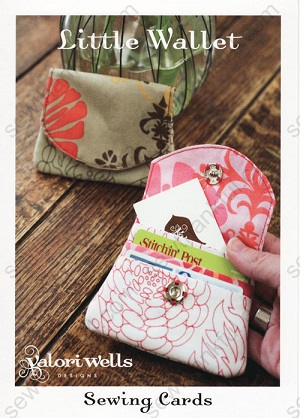 Little Wallet Sewing Card Pattern