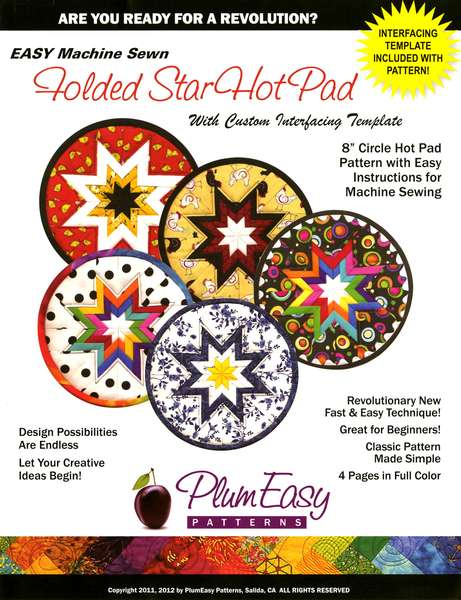 Rounded Folded Star Hot Pad Pattern