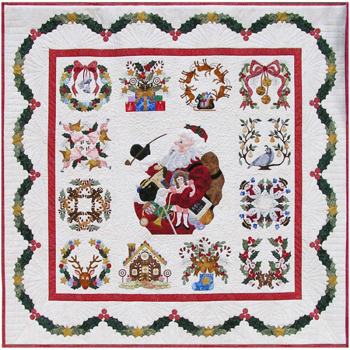 Christmas Quilt.Baltimore Christmas Quilt Complete Set Pattern