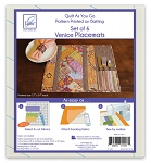 Quilt As You Go Placemat Venice Pattern JT-1457