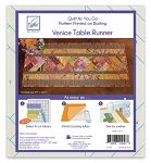 Quilt As You Go Table Runner Venice Pattern JT-1458