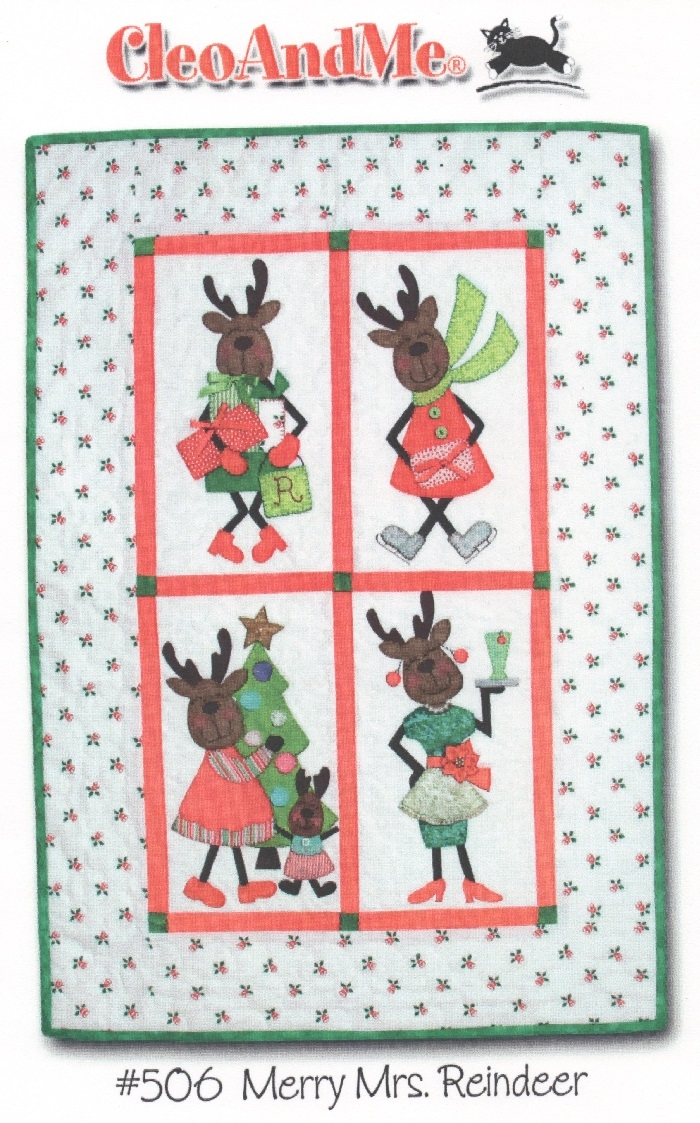 Merry Mrs Reindeer Pattern CAM506