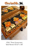 Three Scarecrows Table Runner Pattern CAM561