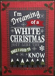 White Christmas Quilt Pattern FHT952